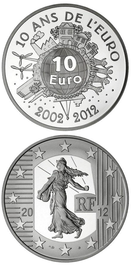 10 euro 10th Anniversary of the Euro - 2012 - France
