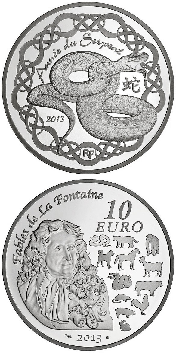 10 euro Year of Serpent - 2013 - France