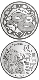 10 euro coin Year of Serpent | France 2013