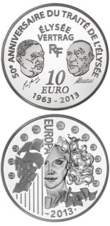10 euro coin 50 Years of the Élysée Treaty | France 2013