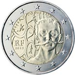 2 euro coin 150th Anniversary of Pierre de Coubertin`s Birth | France 2013