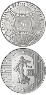 10 euro coin The Sower - MetaLmorphosis and the 40zh Anniversary of Pessac`s Industrial Site | France 2013