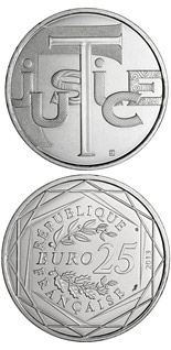 25 euro coin Justice | France 2013