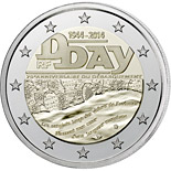 2 euro 70th Anniversary of the D-Day - 2014 - Series: Commemorative 2 euro coins - France