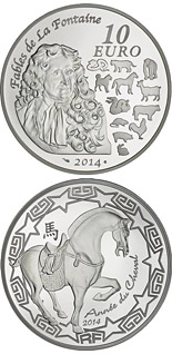 10 euro coin Year of Horse | France 2014