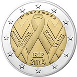 2 euro coin World AIDS Day 2014 | France 2014