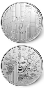 10 euro coin Europa 2014 - 50years of European space cooperation | France 2014