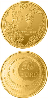 50 euro coin FIFA 2014 : World Cup in Brazil | France 2014