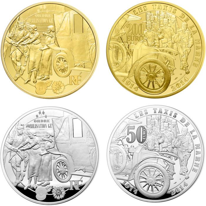 10 Euro Coin Taxis De La Marne France 2014