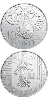 10 euro coin Charles the Bald's Denier | France 2014