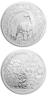 10 euro coin Year of the Goat | France 2015