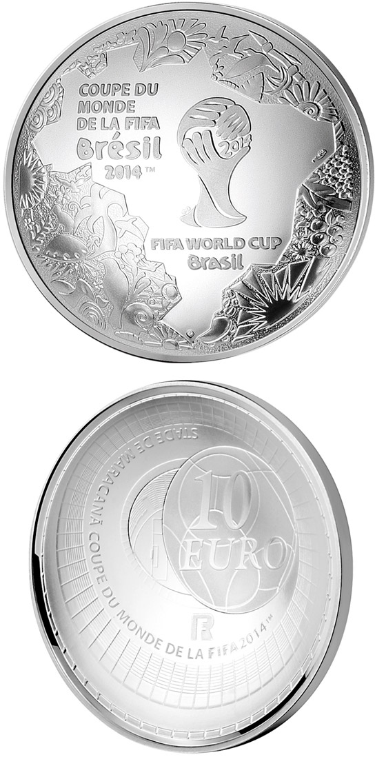 Image of a coin 10 euro | France | FIFA 2014 : World Cup in Brazil | 2014