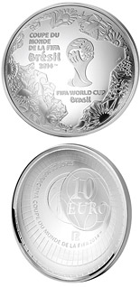 10 euro coin FIFA 2014 : World Cup in Brazil | France 2014