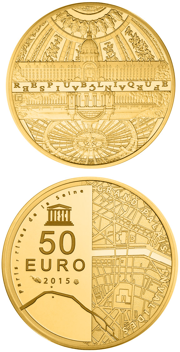 50 euro Paris, the Bank of seine - 2015 - Series: UNESCO World Heritage - France