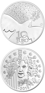 10 euro coin 70 years of Peace in Europe | France 2015