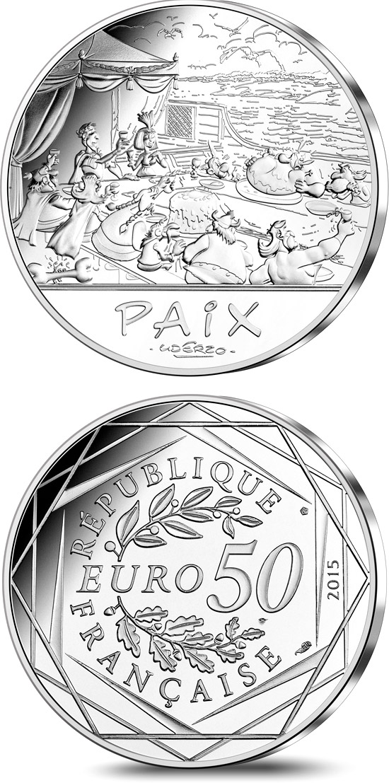 50 euro Astérix and The French Republic - 2015 - France