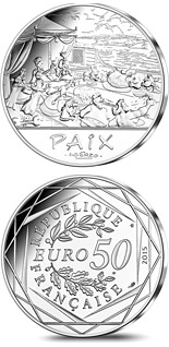 50 euro coin Astérix and The French Republic | France 2015