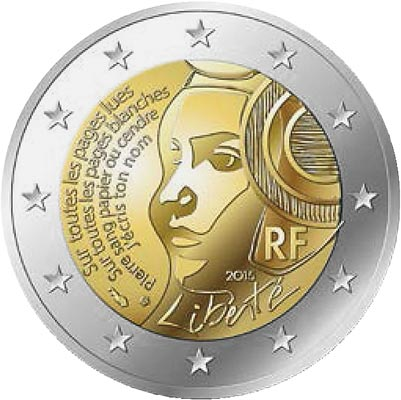 Image of 2 euro coin – 225th Anniversary of the Fête de la Fédération | France 2015