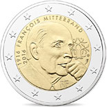 2 euro coin 100th Anniversary of the Birth of François Mitterrand | France 2016