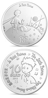 10 euro coin The Little Prince Essential is invisible  | France 2015
