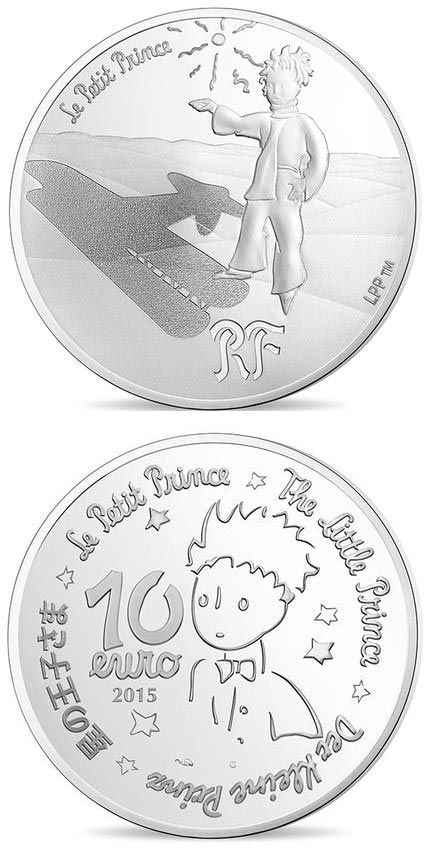 Image of 10 euro coin - The Little Prince Stars are guides  | France 2015