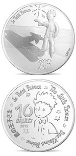 10 euro coin The Little Prince Stars are guides  | France 2015