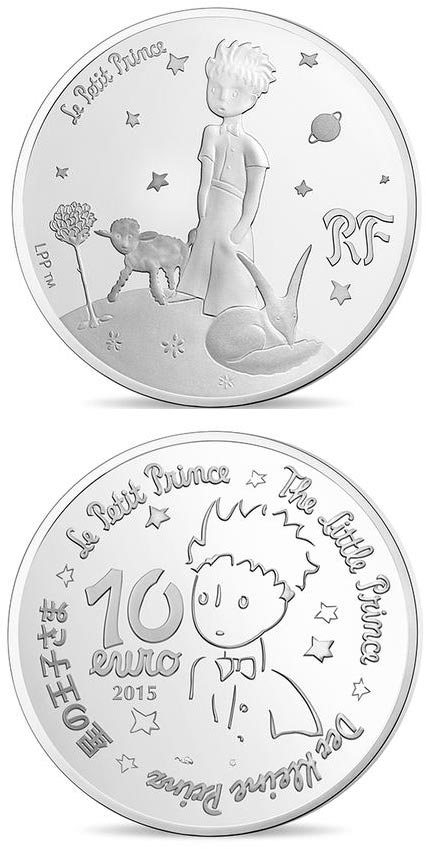Image of a coin 10 euro | France | The Little Prince Draw me a mutton  | 2015
