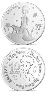 10 euro coin The Little Prince Draw me a mutton  | France 2015