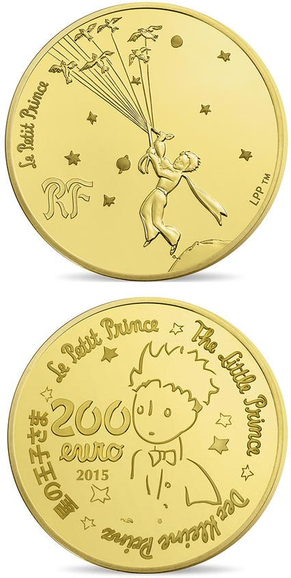 200 euro The Little Prince  - 2015 - France