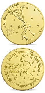 200 euro coin The Little Prince  | France 2015