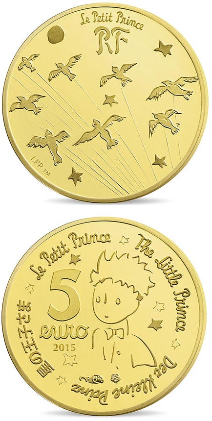 5 euro The Little Prince  - 2015 - France