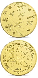 5 euro coin The Little Prince  | France 2015