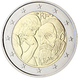 2 euro coin Centenary of Auguste Rodin  | France 2017