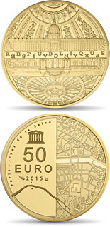 50 euro coin The Seine Banks: Invalides - Grand Palais  | France 2015