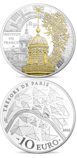 10 euro coin Institut de France | France 2016