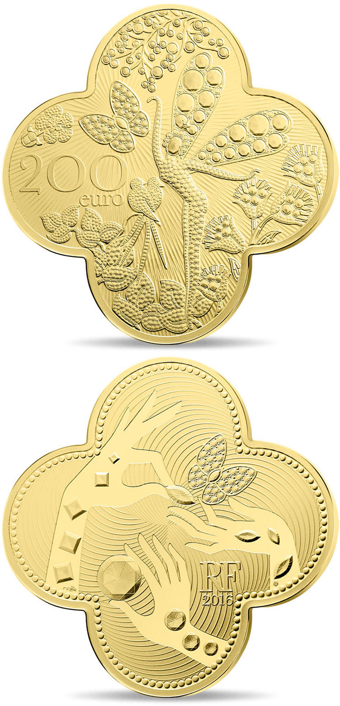 Image of 200 euro coin - Van Cleef & Arpels  | France 2016