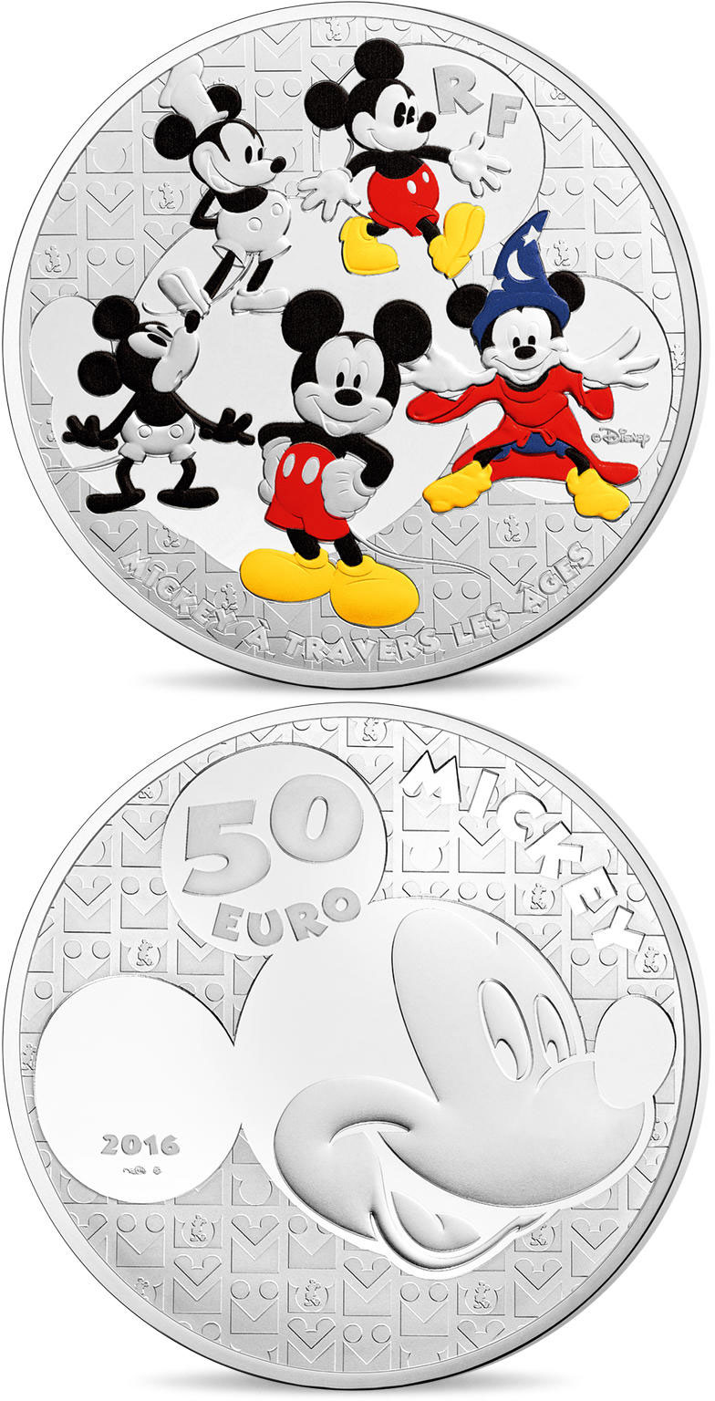50 euro | France | Youth Mickey through the ages  | 2016