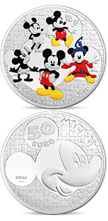 50 euro coin Youth Mickey through the ages  | France 2016
