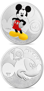 10 euro coin Youth Mickey through the ages  | France 2016