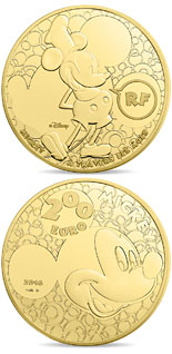 200 euro coin Youth Mickey through the ages  | France 2016