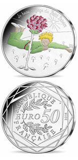 50 euro coin The Little Prince's beautiful journey France  | France 2016
