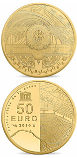 50 euro coin The Seine Banks: Orsay - Petit Palais | France 2016