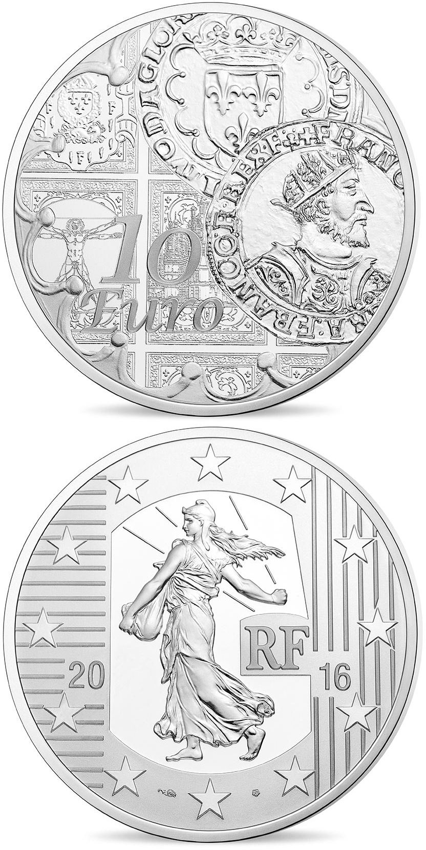 10 euro Sower historic coins: The teston  - 2016 - France