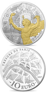 10 euro Génie de la Bastille  - 2017 - Series: Treasures of Paris - France