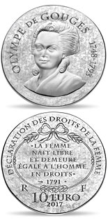 10 euro Olympe de Gouges - 2017 - Series: Women of France - France