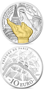 10 euro Statue of Liberty - 2017 - Series: Treasures of Paris - France