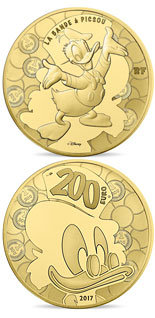 200 euro coin Duck Tales | France 2017