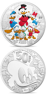 50 euro coin Duck Tales | France 2017