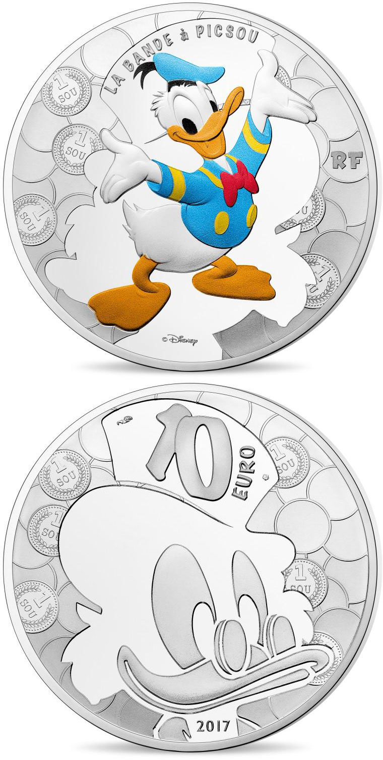 Image of a coin 10 euro | France | Duck Tales | 2017