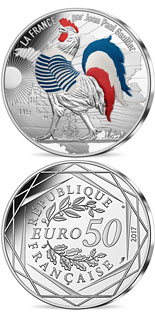 50 euro France by Jean Paul Gaultier- silver coin Marinière - 2017 - France